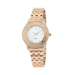 M.O.A LADIES' LA FOLGIANA ANALOG STAINLESS STEEL ROSE GOLD / SILVER KM1734-2404 WATCH image here