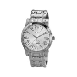M.O.A MEN'S SOLARIS ANALOG STAINLESS STEEL SILVER KM1735-1101 WATCH image here