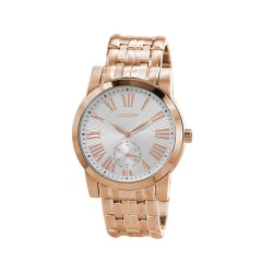 M.O.A MEN'S SOLARIS ANALOG STAINLESS STEEL ROSE GOLD / SILVER KM1735-1404 WATCH image here