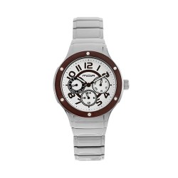 M.O.A LADIES' AMARCELLINE ANALOG STAINLESS STEEL SILVER / BROWN KM1767-1402 WATCH image here