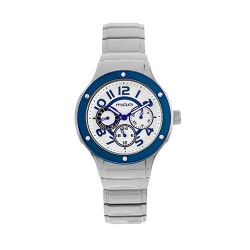M.O.A LADIES' AMARCELLINE ANALOG STAINLESS STEEL SILVER / BLUE KM1767-1403 WATCH image here