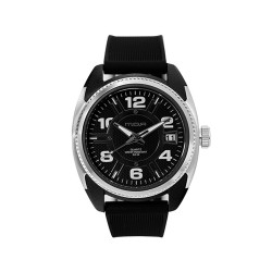 M.O.A MEN'S DIATOMOS ANALOG RUBBER BLACK / SILVER KM1887-1502 WATCH image here