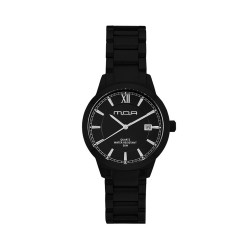 M.O.A UNISEX NOUVELLI ANALOG STAINLESS STEEL BLACK KM1899-5507 WATCH image here