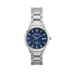 M.O.A UNISEX NOUVELLI  ANALOG STAINLESS STEEL SILVER / BLUE KM1899-7103 WATCH image here