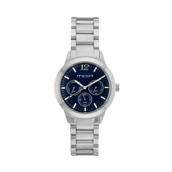 M.O.A UNISEX ALLEGRETTO ANALOG STAINLESS STEEL SILVER / BLUE KM1921-5103 WATCH image here