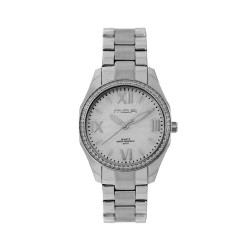 M.O.A LADIES' DEÁNDRE ANALOG STAINLESS STEEL SILVER / WHITE KM1928-2101 WATCH image here