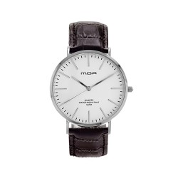 M.O.A UNISEX VERSAILLES CLASSIC ANALOG LEATHER BROWN / WHITE KM2255-3201 WATCH image here