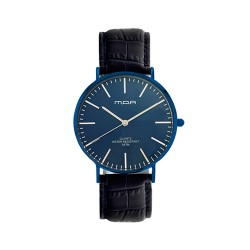 M.O.A UNISEX VERSAILLES CLASSIC ANALOG LEATHER NAVY BLUE / BLUE KM2255-9403 WATCH image here
