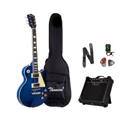 Thomson Les Paul w/ heavy duty amp, tuner and Complete accessories Package Electric Guitar (Red Wine) image here