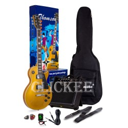 Thomson Les Paul w/ heavy duty amp, tuner and Complete accessories Package Electric Guitar (GOLD) image here