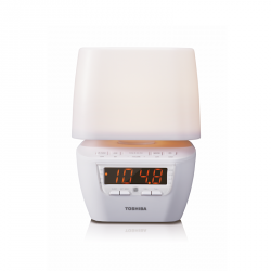 Toshiba Clock Radio with LED Light & Bluetooth TY-HRL50 (White)  image here