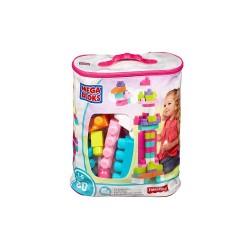 MEGA BLOKS®  80-Piece Big Building Bag, Pink image here