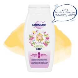 Sanosan 2-in-1 Shower & Shampoo Raspberry 250ml,7SNI-9818 image here