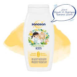 Sanosan 2 in1 Shower & Shampoo Banana 250ml,7SNI-9819 image here