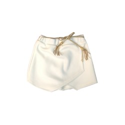 Big and Small Overlapped Skorts with Braided Belt image here