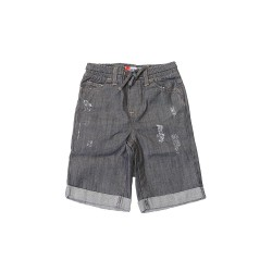 Big and Small Ripped Denim Shorts image here