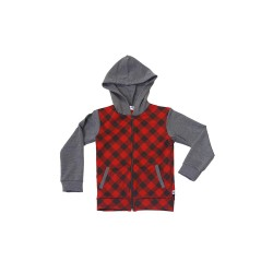 Big and Small Checkered Hoodie Jacket image here