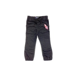 Big and Small Frech Terry Jogger Pants with Patch Detail image here