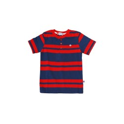 Big and Small Stripe Henley Shirt image here