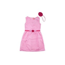 Big and Small A-line Lace Dress with Flower Applique image here