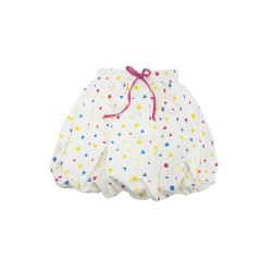 Big and Small Bubble Hem Skirt image here